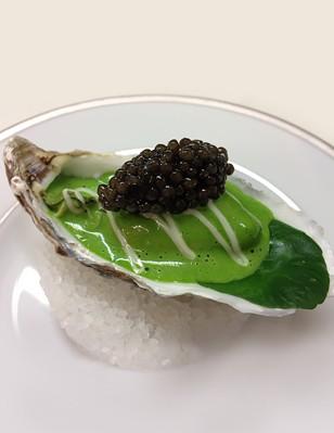 Caviar et huîtres