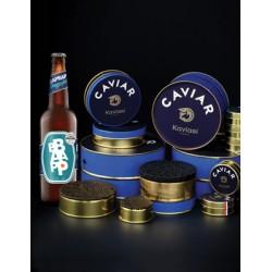 Caviar et bière