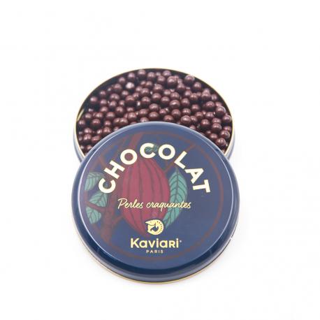 Perles craquantes au chocolat noir